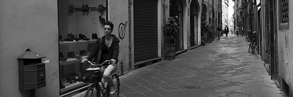 Ciclista a Lucca (Cyclist in Lucca)